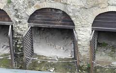 010 Shoreline  Storerooms (boathouses), Herculaneum (1) (tobeytravels) Tags: herculaneum shoreline storage boathouse bodies skeletons