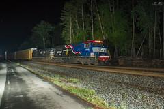 NS 275 at CP Brewin (travisnewman100) Tags: norfolk southern ns train railroad freight unit autorack trains honoring our veterans 6920 sd60e c449w ge emd 275 georgia division atlanta north cp berwin