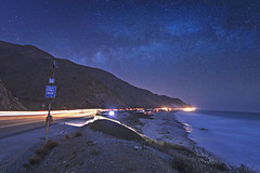 West end town a dead end world (hitmanfre1) Tags: nikon los angeles losangeles california southerncalifornia socal ventura malibu longexposure milkyway night evening nightphotography nighttime astrophotography coast pacific pacificcoasthighway ocean beach blue mountain light