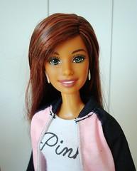Cali Girl Summer (Deejay Bafaroy) Tags: barbie mattel doll puppe caligirlsummer caligirl summer madetomove mtm mtmbody portrait porträt black schwarz white weiss pink rosa