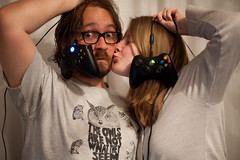 Day 55, Year 10. (evilibby) Tags: 365 36510 365days 365days10 libby jack kiss gaming controllers xboxcontrollers