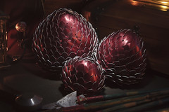 Dragon Eggs 16 (icantcu) Tags: lightpainting light painting lowlight low dark gothic medieval dragon egg scale theringlord knitting crafts diy hobby