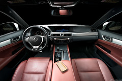 Lexus GS interior (thelucid1) Tags: car leather nikon interior automotive steeringwheel lexus d800 studiolighting automotivephotography strobism