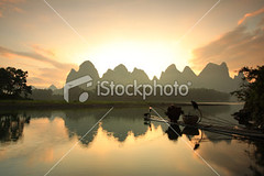 Li-river-fishermen (MPBHAIBO) Tags: china landscape asia morning fishing river hill mountain sunrise fisherman relaxation karstformation guilin yangshuo guangxiregion water bird cormorant cumulonimbus stormcloud mist woodenraft fog ruralscene liriver cloud xingping dusk dawn reflection fishingindustry cloudscape