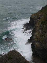 Angry Sea (Worthing Wanderer) Tags: grey coast spring cornwall cloudy harbour path windy estuary april fowey dull southwestcoastpath