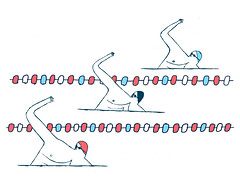 front crawl (Nick_ Alston) Tags: illustration swimming crawl nickalston