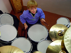 Little Drummer Boy (occbass) Tags: boy drums sticks drum drummer kit cymbals