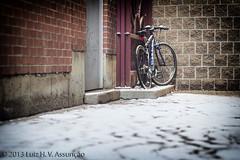 Bike - Ithaca, NY (Luiz Henrique Assuno) Tags: snow newyork bike bicicleta olympus neve ithaca