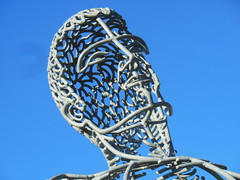 The Face of Chiron (mikecogh) Tags: sculpture face steel publicart olympicpark andyscott