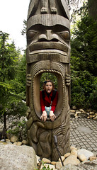 Day 2300 (evaxebra) Tags: wood bridge canada vancouver carved suspension polish totem pole 365 capilano 365days evaxebra
