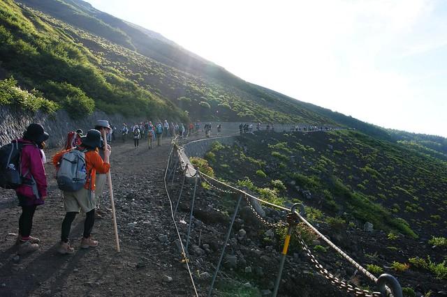 富士山1合目から5合目まで登ってみましたの写真