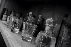 Mini's (C Newby) Tags: glass shot bottles mini shotglass
