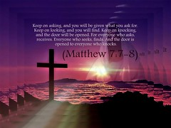 Matthew 7:7-8 nlt (Bob Smerecki) Tags: life love church true rock stone easter born high truth heaven king christ god matthew spirit brother father ghost religion jesus lord christian mount holy moses again olives lamb bible alive commandments messiah risen salvation abba sanctuary prayers tabernacle nations sabbath blessed redeemer almighty sins scriptures passover 778 faithful everlasting slain fo