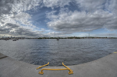 052013_StockholmHDR_KDW002 (KrisWould) Tags: travel vacation holiday nature water beauty nikon europe view sweden stockholm scenic balticsea fisheye shore 8mm hdr swe stadsgrden samyang d7000 kriswood stadsgarden