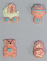 Pink Baby accessories 3cm (sweetinspirationsaustralia) Tags: cupcaketoppers
