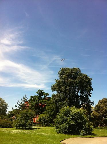 Plane over Kew