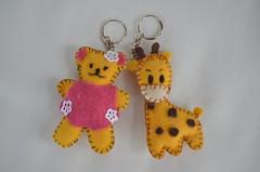 Chaveiros de feltro (Mimos & Presentes) Tags: feltro girafa urso tecido chaveiro ursinho chaveiros