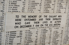 Arizona Memorial Wall of Rememberance (deltaMike) Tags: usa hawaii memorial worldwarii pearlharbor usnavy ussarizona