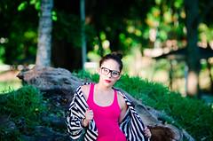 (Isai Alvarado) Tags: park wood light red portrait woman cinema blur hot tree sexy film girl fashion hair movie model nikon focus dof dress arms bokeh stock sigma cine lips hips paty cinematic softlight 70200mm glaases d7000