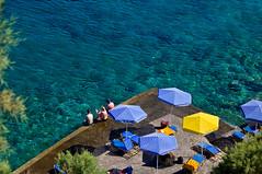 Clear blue water (Hetty S.) Tags: travel blue sea vacation people water canon eos holidays clear greece parasol crete umbrellas sunbathing mygearandme mygearandmepremium mygearandmebronze