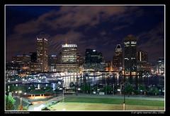 Inner Harbor of Baltimore at Dusk (SkylineScenes (Bill Cobb)) Tags: city sunset urban skyline night marina boats harbor downtown cityscape waterfront dusk maryland baltimore inner federalhill