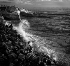 Back Splash (fotosbyterry) Tags: ocean california longexposure sunset sun water san rocks surf waves sandiego diego tourist cliffs splash attraction sunsetcliffs