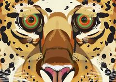 Leopard (THEFUNCTIONALFOX) Tags: colour art animal animals illustration design graphicdesign artwork graphic creative creation illustrator concept habitat ideas vectors animalvector illustratia thefunctionalfox