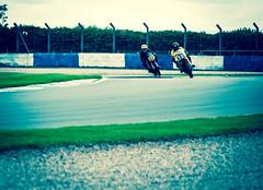 Chasing (Pixelglo Photography) Tags: classic bike racetrack race corner racing motorbike motorcycle circuit lean donington doningtonpark racecircuit classicmotorcyclefestival