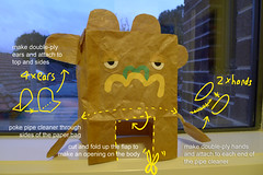 Paperbag craft (bigbrownmonster) Tags: party monster daddy fun toy design education child handmade creative craft parent homemade gift kawaii handcrafted 创意 recycle ideas paperbag 爸爸 儿童 preschooler 子供 父 手工 可爱 かわいい 设计 幼稚園 回收 紙袋 デザイン ハンドメイド 亲子 stayathome 楽しみ ギフト 乐趣 怪兽 モンスター テール 手製 自创 bigbrownmonster wilkietan 手作りされる リサイクルしなさい