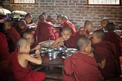 Lunch at Monastery (Katya_N) Tags: food kids children lunch burma buddhist religion buddhism monastery monks myanmar pagan bagan