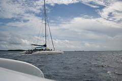 Sailing on a Catamaran (sr667) Tags: cu pentax cuba catamaran varadero caribbeansea repblicadecuba pentaxoptios10 provinciadematanzas avelasamericasavaraderoprovinciadematanzasrepblicad avelasamericasavaraderoprovinciadematanzasrepblicadecubavaraderointernacionalcabaretcontinentalbarcelosolymararenasblancascuatrospalmas