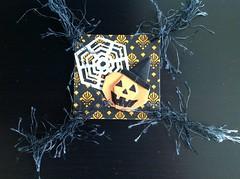 Twinchie Halloween RAK (hippofreak) Tags: halloween origami geisha kimono paperfolding boeddha oosters zegels inchies twinchies