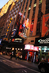 daffy's (Djuliet) Tags: street sunset signs ny newyork theatre neons daffys