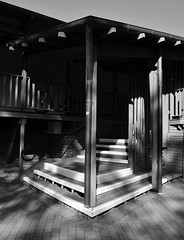 Eltham Library 12 (phunnyfotos) Tags: bw architecture stairs mono nikon stair library steps entrance australia melbourne monotone victoria vic 1995 verandah entry eltham d5100 elthamlibrary nikond5100 phunnyfotos gregoryburgess