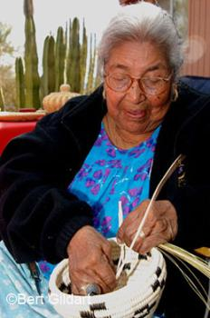 Matilda Saraficio creates baskets