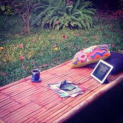 Chill Saturday afternoon at THE LIGHT Café. บ่ายแก่ๆวันเสาร์สบายๆในสวนที่ THE LIGHT Café อ่านหนังสือเล่มโปรด เคล้าเสียงเพลงเบาๆกับกาแฟหอมกรุ่น :)