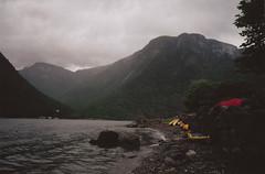 (Lewis Gregory) Tags: travel panorama seagulls mountains film oslo norway clouds 35mm iso200 europe kayak sheep canoe kayaking voss r1 bergen ricoh fjords seakayaking
