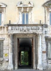 spoleto (11) (kexi) Tags: door old italy green june vertical canon garden ancient gate italia open view entrance symmetry spoleto umbria instantfave 2013