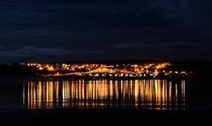 Cullen Lights (Kyle Simpson) Tags: light sky reflection beach water beautiful night clouds reflections lights scotland town nikon nighttime moray cullen portknockie cullenbeach d3100 nikond3100