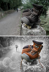 Before & After (Keep Walking) (Ben Heine) Tags: light inspiration colors composition contrast photomanipulation photoshop work canon painting landscape effects photography graphicdesign scenery message gamma drawing spirit lumire perspective creative gimp samsung overlay vision pixel photoediting layers editing illustrator process filters modification pixels tones technique wacom depth postproduction retouching adjustment tutorial airbrush examples imageediting beforeafter digitalphotography edits avantaprs benheine graphicsoftware digitaltablet