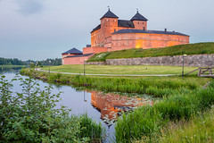 Medieval Castle (Digikuvaaja) Tags: county old travel summer reflection building green tower castle heritage history tourism nature water grass stone wall architecture reflections finland river landscape town ancient colorful europe european view fort outdoor seasonal scenic landmark medieval historic historical fortress defense attraction nordiccountries