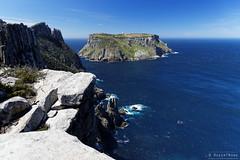 20131201-21-Tasman Island from Cape Pillar sea cliffs.jpg (Roger T Wong) Tags: ocean sea water trek outdoors nationalpark walk australia hike tasmania np bushwalk tramp seacliffs tasmanpeninsula dolerite canonef24105mmf4lisusm tasmanisland canon24105 tasmannationalpark capepillar canoneos6d