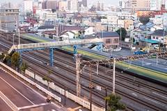 (fgsfds90) Tags: light train 35mm long exposure fuji jr trail yokohama kanagawa xe1