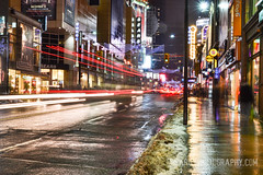 Toronto -  Nisarg Images (NisargPhotography) Tags: life winter red snow reflections lights downtown hard lighttrails downtowntoronto icystrom