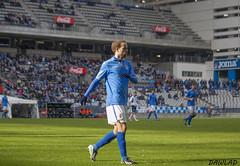 Sergio Garcia vigilando el juego (Dawlad Ast) Tags: b sergio club de real 5 asturias carlos enero estadio garcia oviedo futbol burgos nuevo segunda 2014 tartiere
