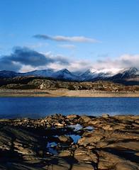 Mountains in the Clouds (bjolester) Tags: mountain film norway analog mediumformat epson sylan pentax6x7 porta400 tydal fujipro160s epsonv750 kodakporta400