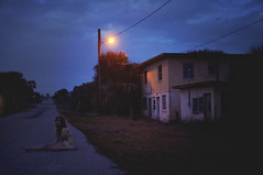 (yyellowbird) Tags: house selfportrait abandoned girl night florida cari ameliaisland