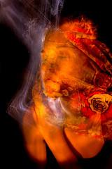 Imprint (JamesStreeterphotography) Tags: longexposure nightphotography pink flowers blue light red white mist lightpainting black flower colour eye girl yellow night canon nose lights eyes long exposure glow skin martial magic ears lp ear colourful effect lightgraffiti