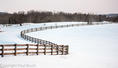 The S-Bend (pbruch) Tags: winter snow ontario cold fence 100400mm 5dmk3