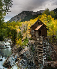Crystal Mill (yui fan) Tags: city autumn mountain fall mill america river landscape rockies town colorado crystal ghost marble 500px asepn ifttt